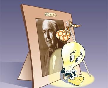 lampadina inventore : La lampadina a incandescenza Evolution Online
