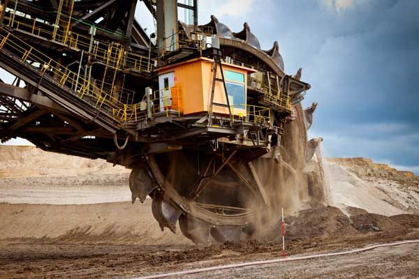 Typical application for self-aligning roller bearings: lignite open-pit mining in Germany.