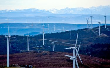 A wind farm in Galicia, northwestern Spain.