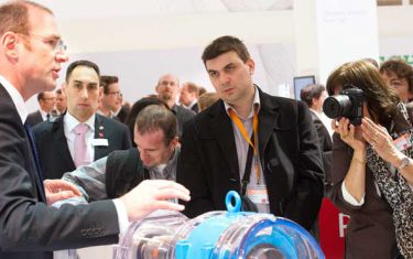 SKF Insight technologyis demostrated at the Hannover Messe 2013.