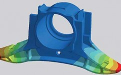 FEM analysis to optimize design and strength of components, such as axleboxes.