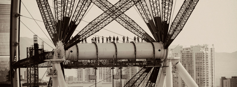 Ironworkers and American Bridge Engineers.