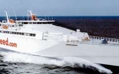 Superseacat fast ferry – propulsion shaft equipped with Cooper bearings.