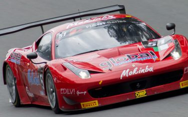 Veka Racing Ferrari 458 GT2 during the 2013 race at Zolder.
