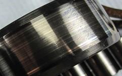 Full black oxidized (L4B) NU 207/C3 bearing components