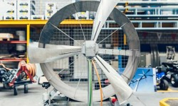 A Wepfer turbine under construction at the plant in Andelfingen, Switzerland.