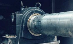 The propeller shafts, at each end, are supported by an SKF spherical roller bearing and housing.