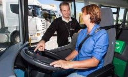 Scania driver training.