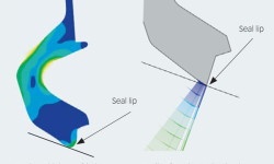 Fig. 5: Improved seal lip design results in lower friction while maintaining sealing function.