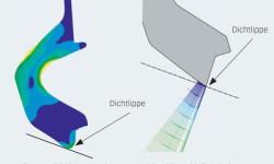 Bild 5: Das verbesserte Dichtlippendesign führt zu niedrigeren Reibwerten bei gleichbleibend guter Abdichtung.
