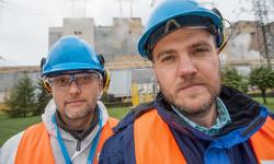 Jacek Gwiżdż (à g.), spécialiste de la gestion de l'outil de production chez SKF Polska, et Wojciech Stasiukiewicz, de chez GDF SUEZ Energia Polska.