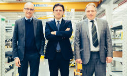 Mario Mattia, SKF machine tool sales manager, Fabrizio Pierini, general manager HSD and Massimo Sandri, SKF machine tool account manager.