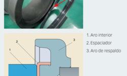 Fig. 3: Unidades de rodamientos de rodillos cónicos (TBU) provistas de un espaciador polimérico especial entre la cara lateral del aro interior de la TBU y el aro de respaldo del eje para evitar corrosión por contacto.