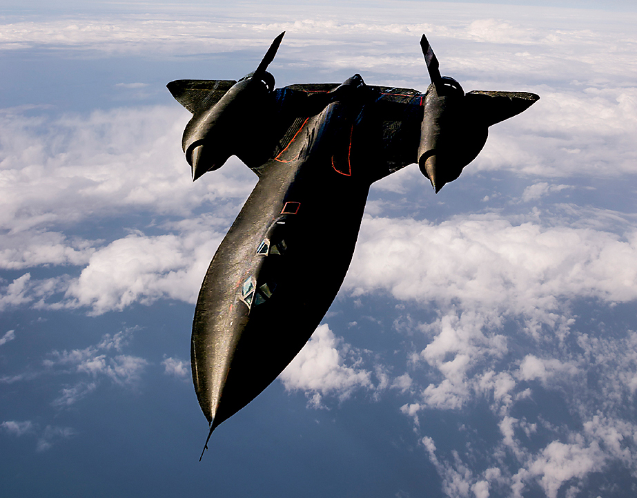 Fig. 3: Lockheed Martin's SR -71 Blackbird olds the world's airspeed record.