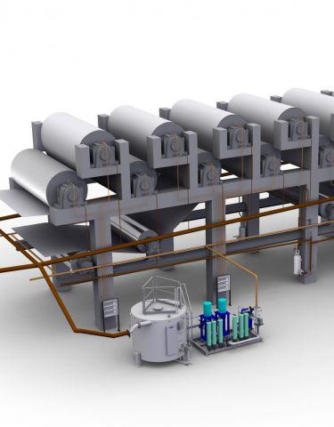 Disposición del sistema Flowline de SKF.