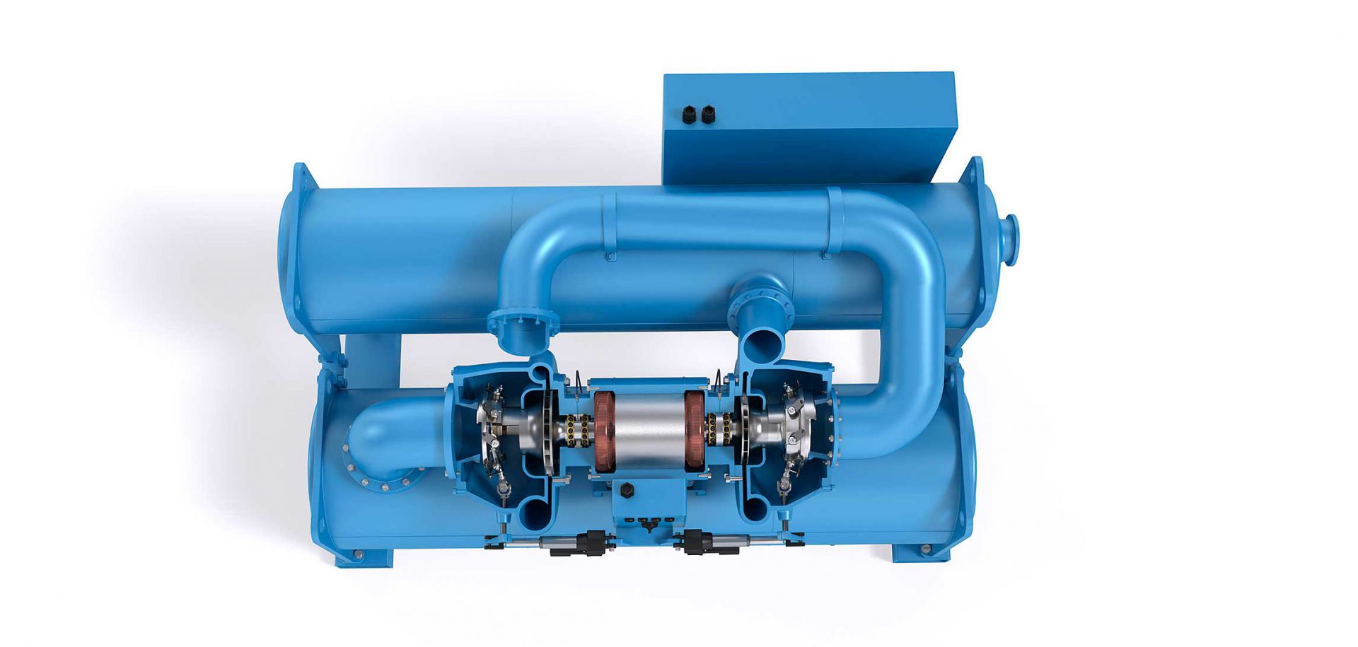 Pure refrigerant lubrication technology in oil-free centrifugal compressors