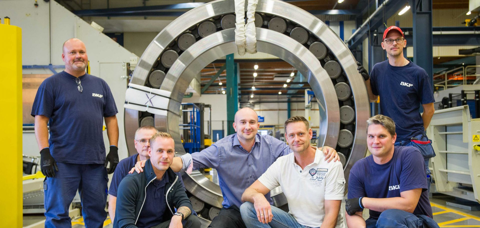 Eight-ton bearing for mining applications