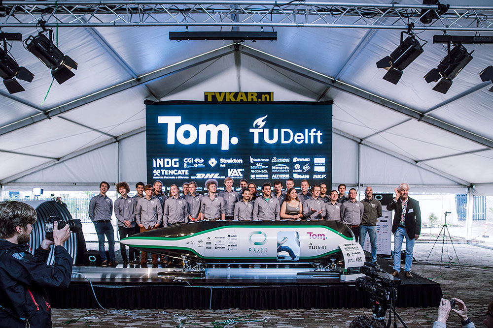 Il team Delft Hyperloop.