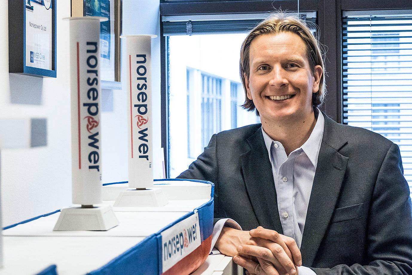 Tuomas Riski, CEO di Norsepower Oy.