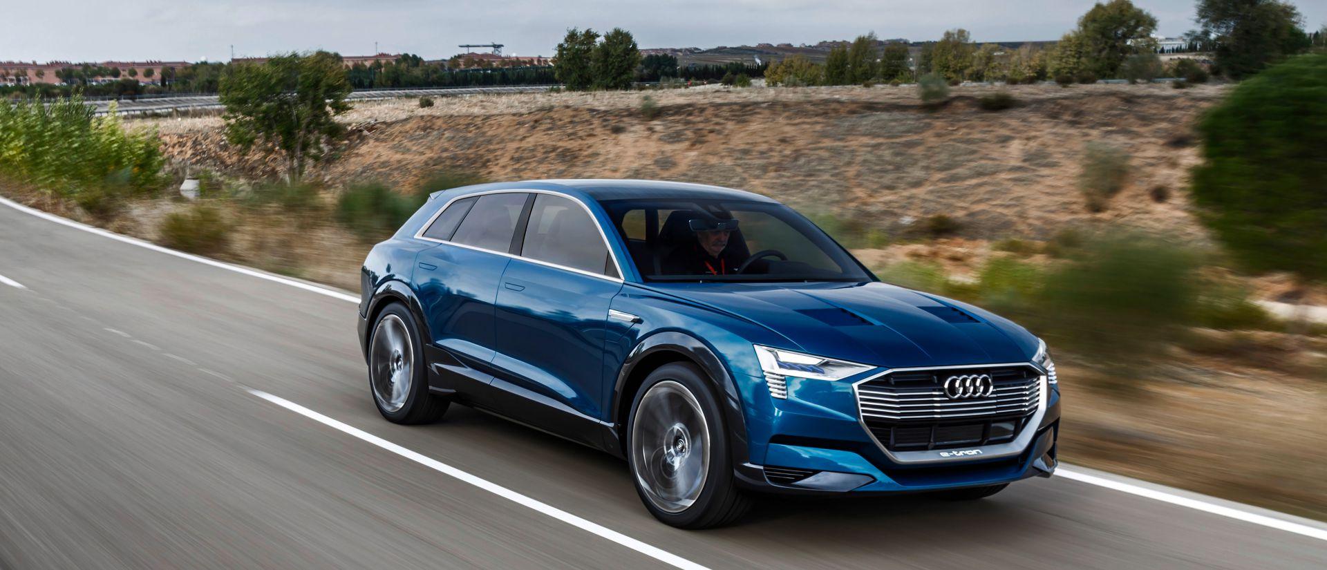 The Audi e-tron Quattro concept car