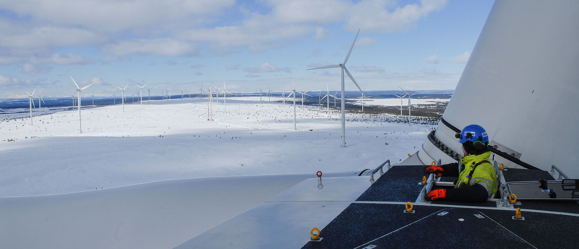 The BlaikenVind wind farm is located in northern Sweden, on the 65th parallel north.