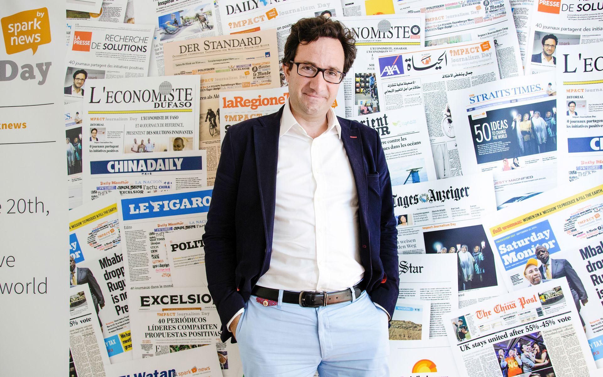 Christian de Boisredon, fundador de Sparknews y del Día del Periodismo de Impacto.