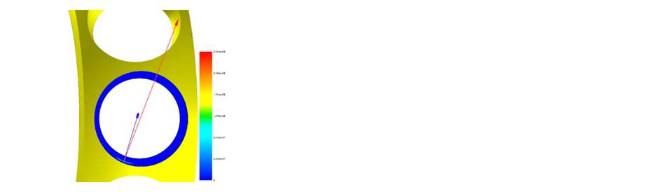 Контактные напряжения окна сепаратора.