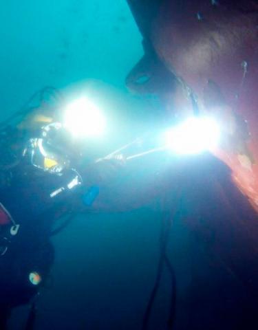 Underwater stabilizer fin replacement