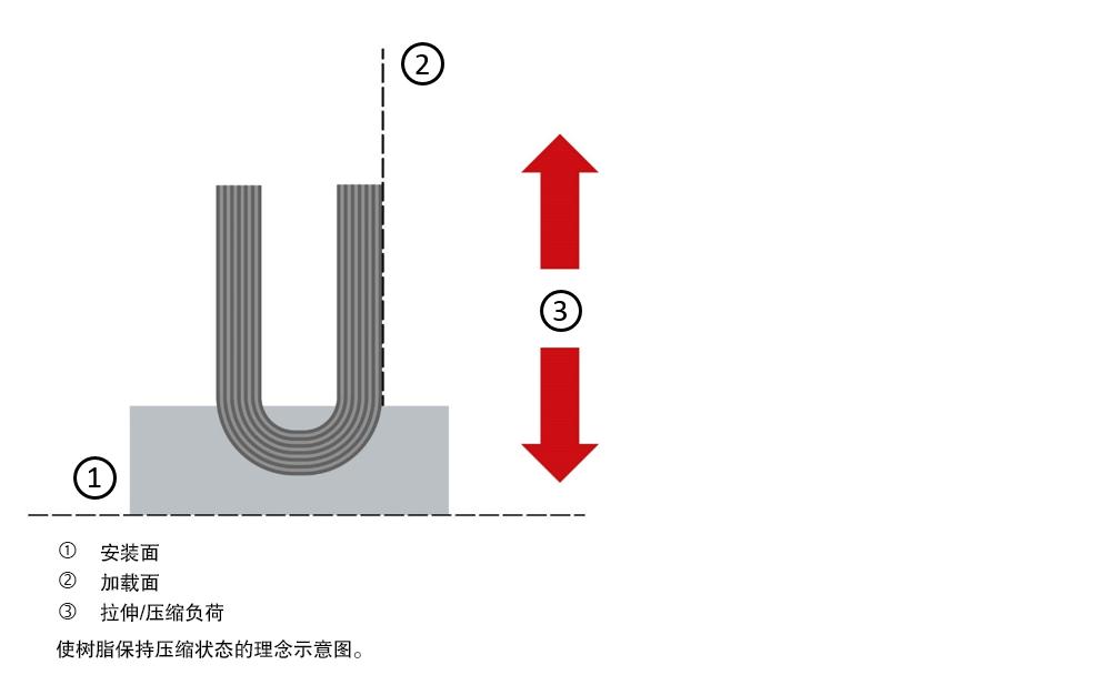 图3:半球形垫圈与碳纤维基底相结合。