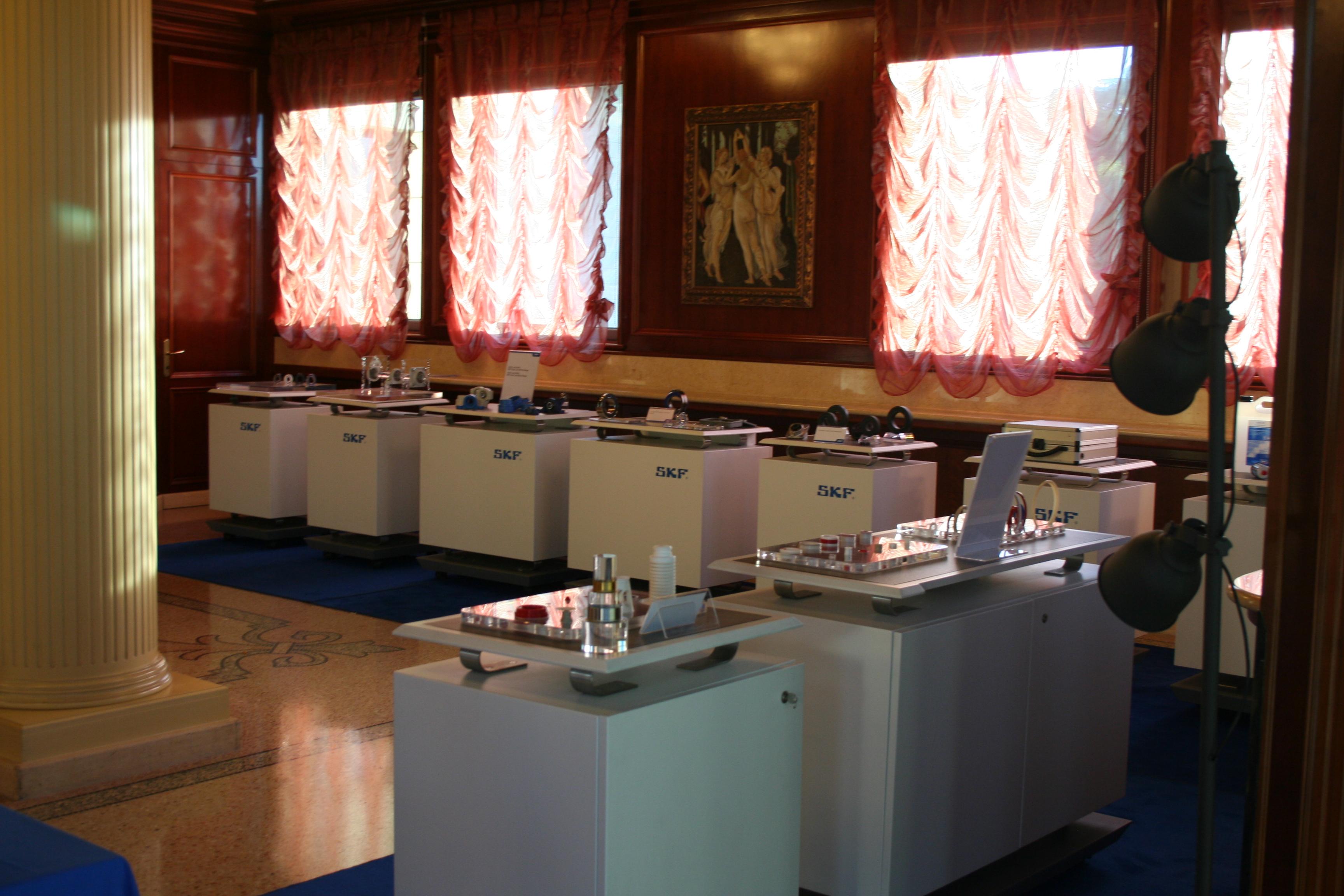 Sala espositiva di SKF al Customer day Minetti