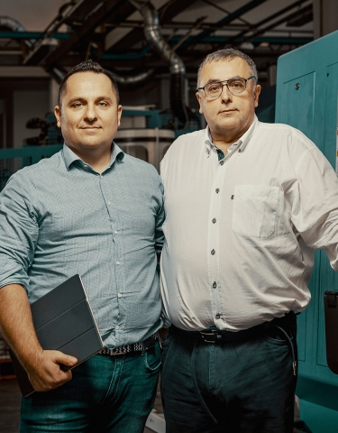 Alessandro Benevelli (left), commercial director; and Alberto Benevelli, CEO, Benevelli S.r.l.