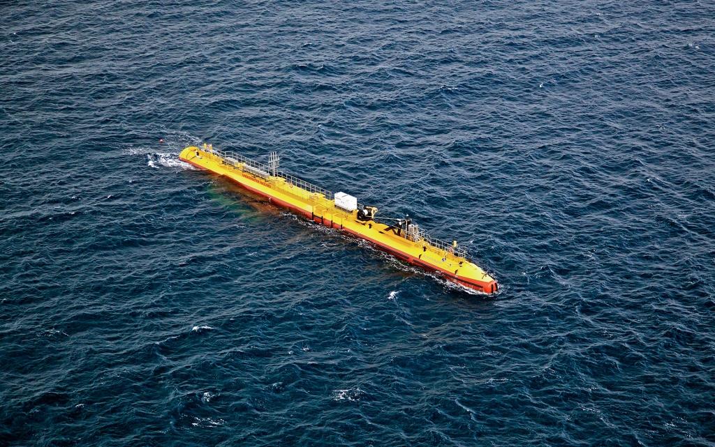 L'hydrolienne SR2000 d'Orbital Marine sur le site de l'European Marine Energy Centre dans les îles Orcades.