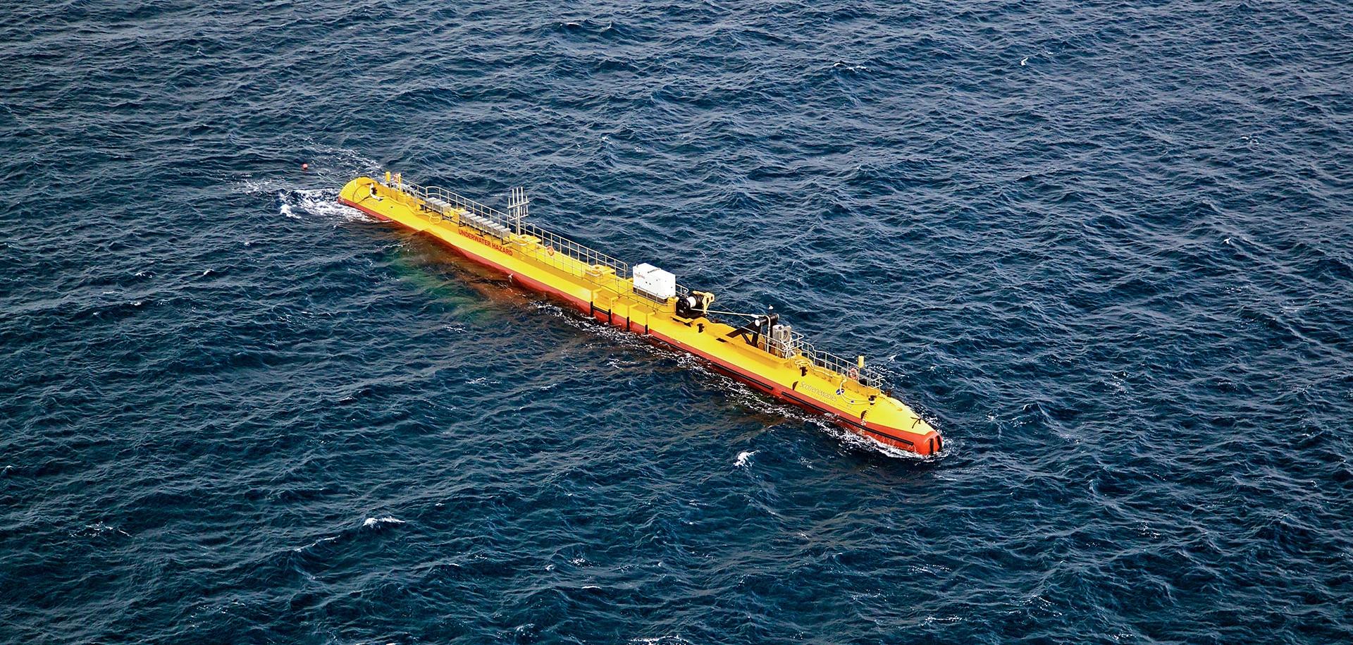 Přílivová turbína SR2000 Orbital Marine v European Marine Energy Centre naOrknejích.