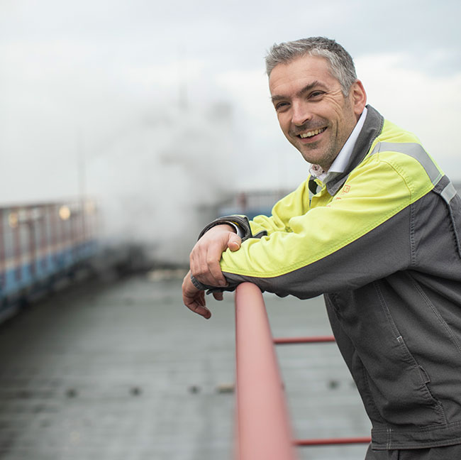 Rutger Boere, responsabile manutenzione, Uniper Maasvlakte.