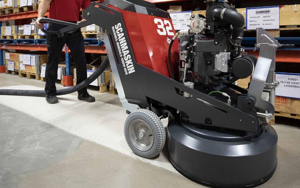 专业地板研磨机的密封解决方案