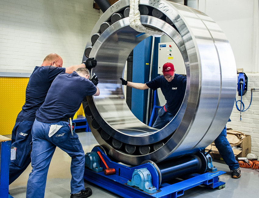 In 2017 SKF produced one of the largest spherical roller bearings for the mining industry.