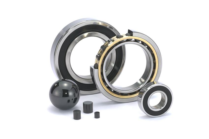 Hybrid ball and roller bearings