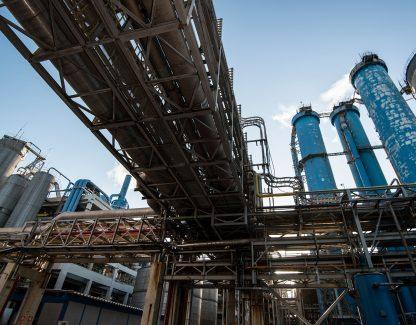 A view of the Suzano Aracruz Celulose plant.