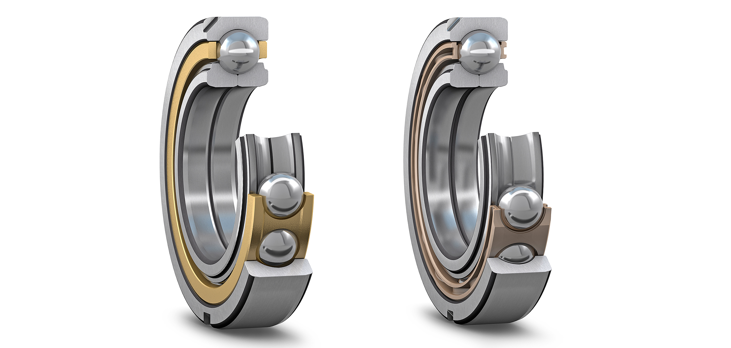 Four-point contact ball bearings – two in one | Evolution