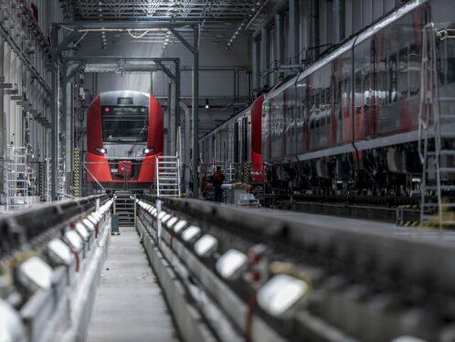 Lastochka electric higher-speed passenger.