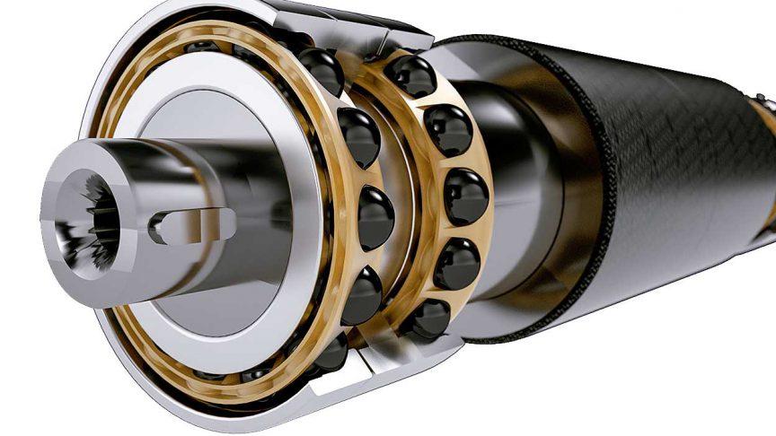 Fig. 9: 3D view of bearing arrangement.