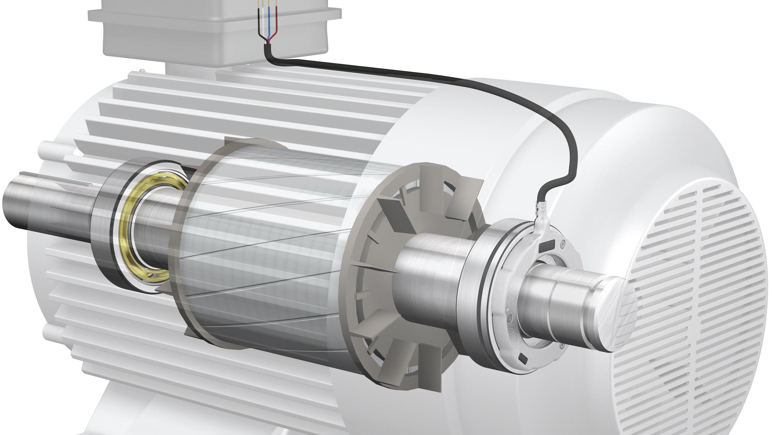 Electric motor fitted with sensorised bearing