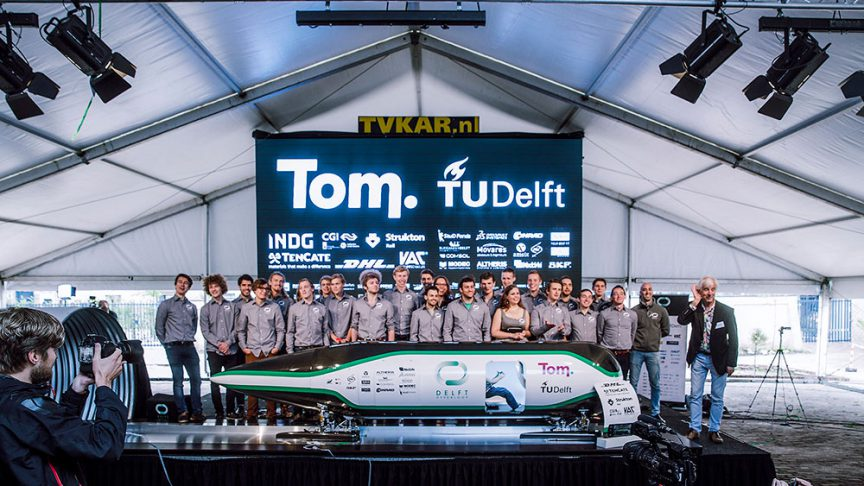 The Delft Hyperloop team.