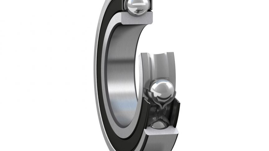 Deep groove ball bearing with seals and steel cage