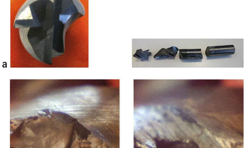 Ráfaga de imágenes de ensayos de mecanizado con líquido de corte taladrina