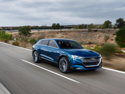 The Audi e-tron quattro concept car.