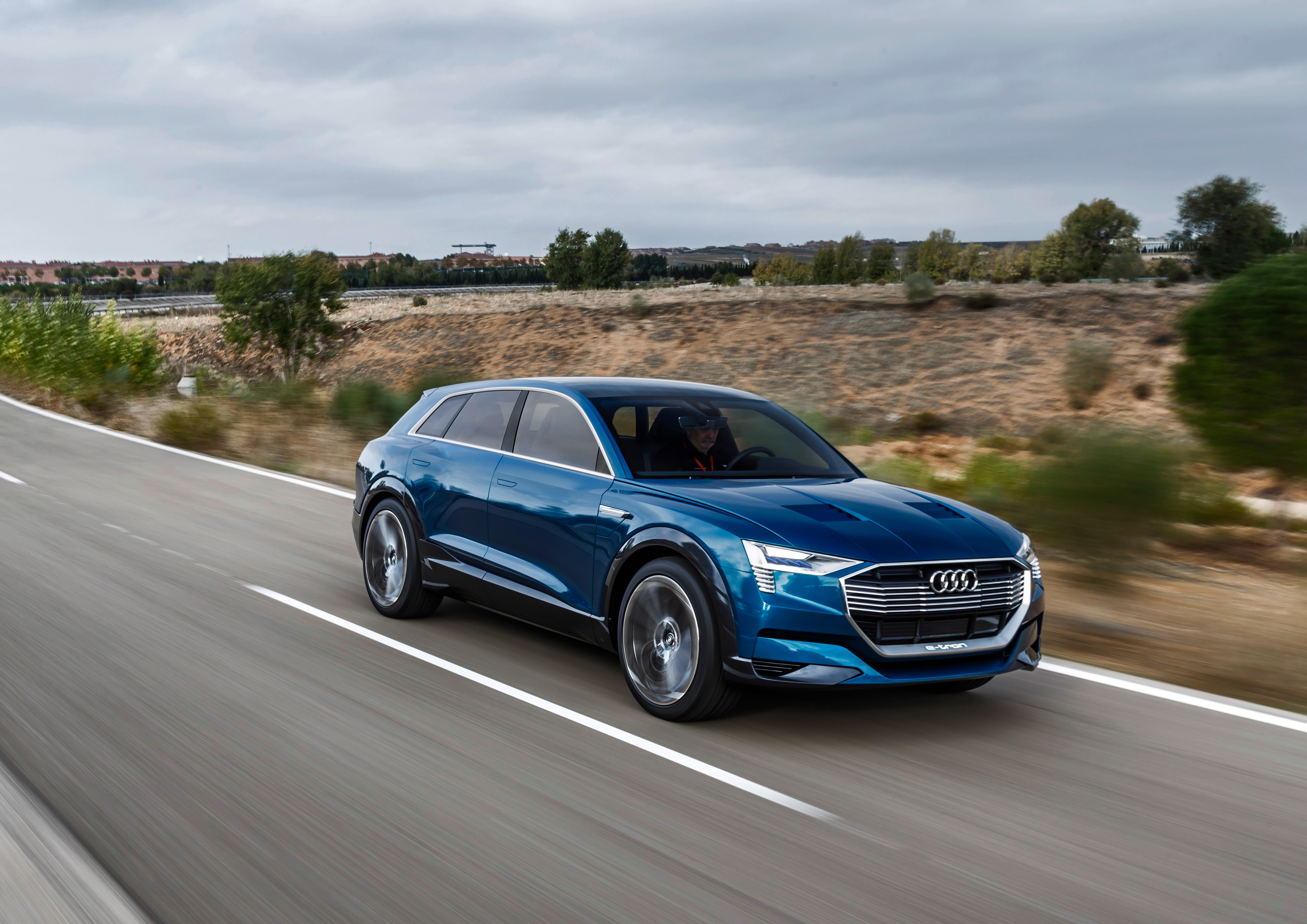 The Audi e-tron Quattro concept car