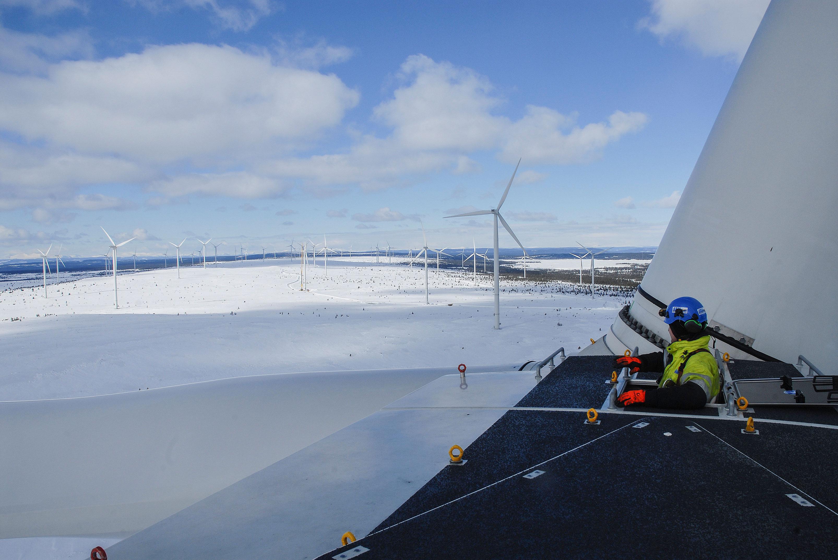 Der Windpark Blaiken befindet sich in Nordschweden am 65. nördlichen Breitengrad zwischen Storuman und Sorsele.