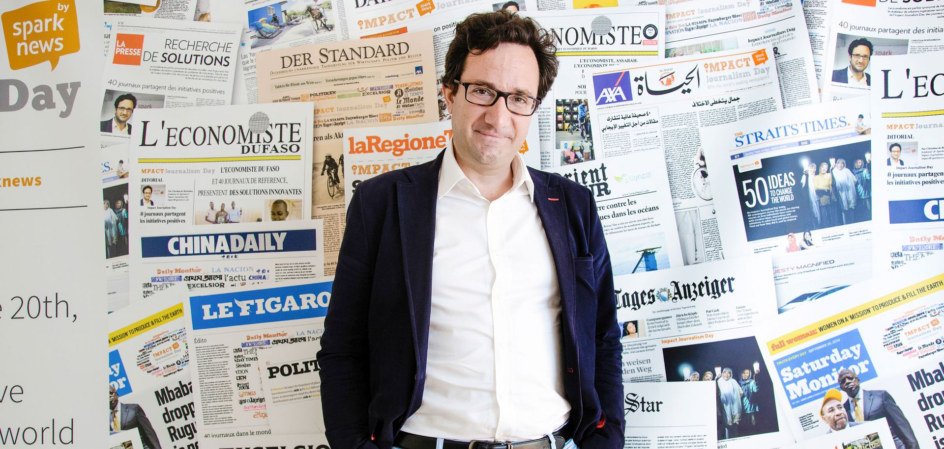 Christian de Boisredon, Gründer von Sparknews und Impact Journalism Day.