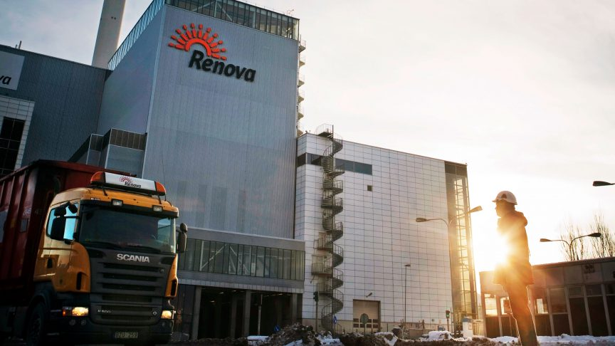 Renova uses diesel hybrid garbage trucks to collect waste in the Gothenburg area.